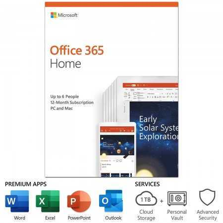 Microsoft Office 365 Home   12-month subscription, up to 6