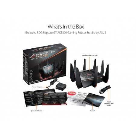 ASUS Gaming Router Tri-band Wi-Fi (Up to 5334 Mbps) for VR & 4K streaming, 1.8GHz Quad-Core
