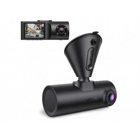 Dual Dash Cam, VAVA 2K Front and 1080P Cabin or 2.5K 30fps