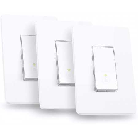 Kasa Smart Light Switch by TP-Link,Single Pole,Needs Neutral Wire,2.4Ghz WiFi Light Switch Works with Alexa and Google